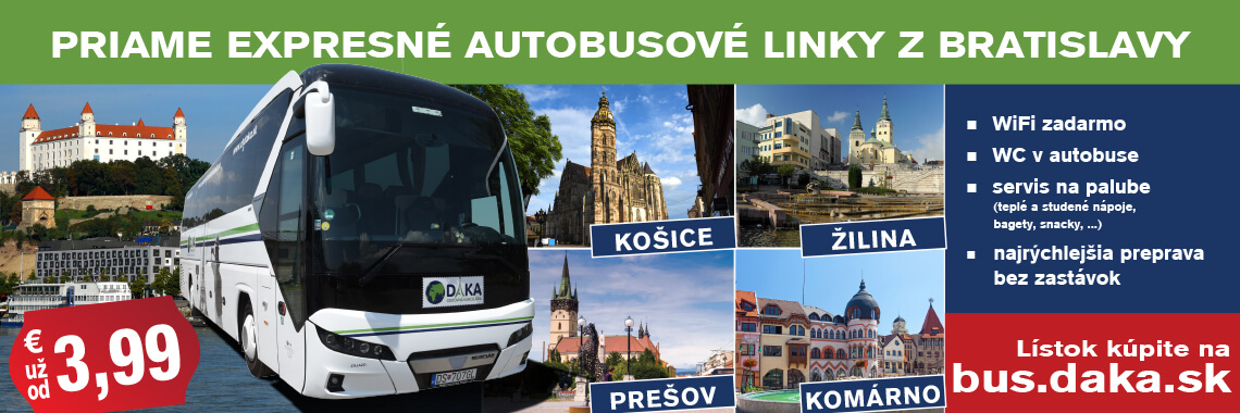 Priame expresné autobusové linky z Bratislavy